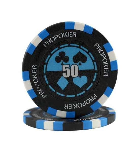Jeton Poker Chip 11.5g - culoare albastru deschis